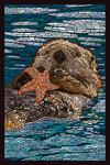 Sea Otter - Paper Mosaic - Lantern Press Artwork