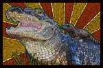 Alligator - Paper Mosaic - Lantern Press Artwork