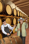 Wine Barrels - Lantern Press Artwork