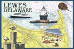 Lewes, Delaware - Nautical Chart #2 -  Lantern Press Artwork