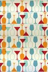 Wine and Martini Glass Pattern - Lantern Press Artwork