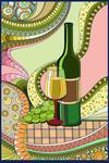 Wine Whimsical - Lantern Press Artwork