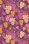 Wine Grapes & Leaves Pattern - Lantern Press Artwork
