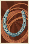 Horseshoe & Rope - Letterpress - Lantern Press Poster