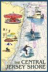 Central Jersey Shore - Nautical Chart #2 - Lantern Press Artwork