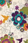 Hummingbirds & Flowers Pattern - Lantern Press Artwork