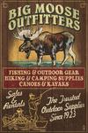 Moose Outfitters - Vintage Sign - Lantern Press Artwork