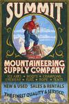 Climber Mountaineering - Vintage Sign - Lantern Press Poster
