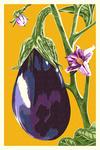 Eggplant - Letterpress - Lantern Press Poster