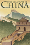 Great Wall of China - Lithograph Style - Lantern Press Artwork