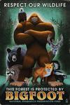 Respect Our Wildlife - Bigfoot - Lantern Press Artwork