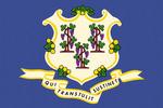 Connecticut State Flag - Letterpress - Lantern Press Artwork