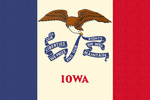 Iowa State Flag - Letterpress - Lantern Press Artwork