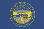 Nebraska State Flag - Letterpress - Lantern Press Artwork