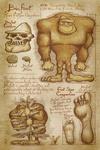 Bigfoot - da Vinci Style - Lantern Press Artwork