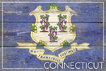 Rustic Connecticut State Flag - Lantern Press Artwork