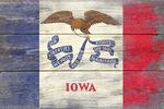 Rustic Iowa State Flag - Lantern Press Artwork