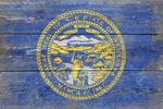 Rustic Nebraska State Flag - Lantern Press Artwork