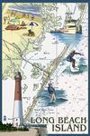 Long Beach Island - Nautical Chart - Lantern Press Poster
