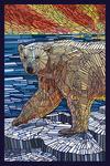 Polar Bear - Paper Mosaic - Lantern Press Poster