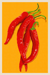 Red Chiles - Letterpress - Lantern Press Artwork