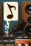Raven and Record Player - Lantern Press Artwork