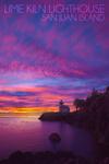 San Juan Island, Washington - Lime Kiln Lighthouse - Lantern Press Photography