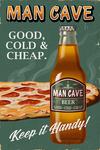 Retro Beer Ad - Lantern Press Artwork