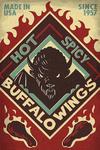 Spicy Buffalo Wings - Lantern Press Artwork