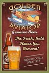 Aviator Beer - Vintage Sign - Lantern Press Artwork