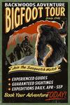 Bigfoot Tours - Vintage Sign - Lantern Press Artwork