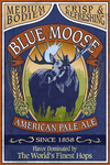 Blue Moose Pale Ale - Vintage Sign - Lantern Press Artwork