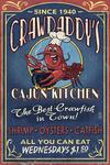 Crawfish - Vintage Sign - Lantern Press Artwork