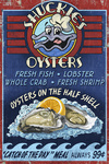 Oyster Bar - Vintage Sign - Lantern Press Artwork