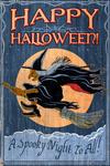 Witch - Vintage Sign - Lantern Press Artwork