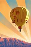 Hot Air Balloon - Lithograph - Lantern Press Artwork