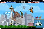 Seattle, Washington - 8-Bit Retro Video Game - Lantern Press Artwork