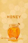 Honey Jar - Letterpress - Lantern Press Artwork