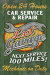 Retro Garage Ad - Vintage Wooden Sign - Lantern Press Artwork