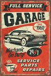 24/7 Full Service Garage - Vintage Sign - Lantern Press Artwork