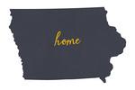 Iowa - Home State- Gray on White - Lantern Press Artwork
