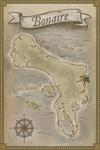 Bonaire, Dutch Caribbean - Treasure Map - Lantern Press Poster