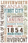 Leavenworth, Kansas - Typography - Lantern Press Artwork