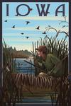 Iowa - Hunter & Lake - Lantern Press Artwork