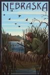 Nebraska - Hunter & Lake - Lantern Press Artwork