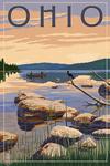 Ohio - Lake Sunrise Scene - Lantern Press Artwork