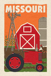 Missouri - Country - Woodblock - Lantern Press Artwork