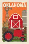Oklahoma - Country - Woodblock - Lantern Press Artwork
