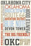 Oklahoma City, Oklahoma - Typography - Lantern Press Artwork