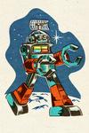 Robot - Offset Halftone - Lantern Press Artwork